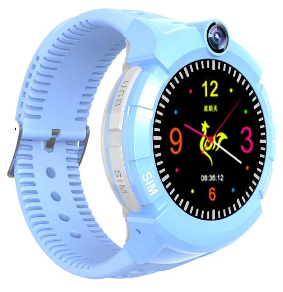 Купить Оригинальные детские смарт часы с GPS WONLEX GW600 цвет голубой
