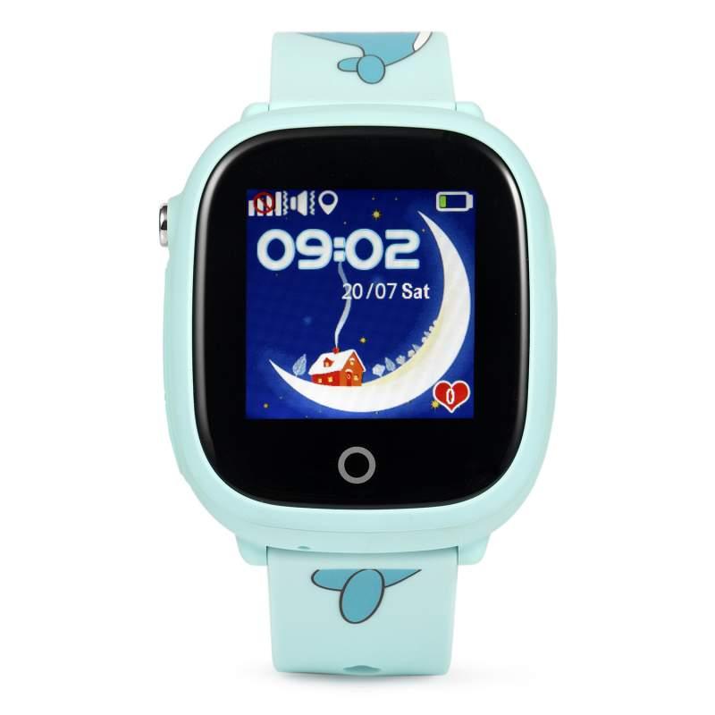 Оригинальные детские смарт часы с GPS WONLEX GW400x цвет голубой
