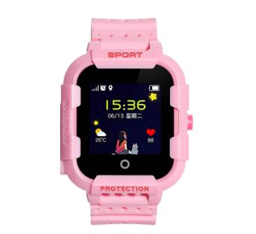 Оригинальные детские смарт часы с GPS WONLEX KT03 цвет розовый