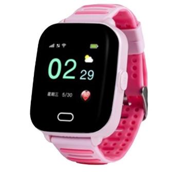 Купить Оригинальные детские смарт часы с GPS WONLEX KT02 цвет розовый