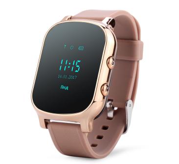 Оригинальные детские смарт часы с GPS WONLEX GW700 цвет золотой