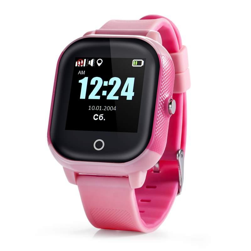 Оригинальные детские смарт часы с GPS WONLEX GW700S цвет розовый