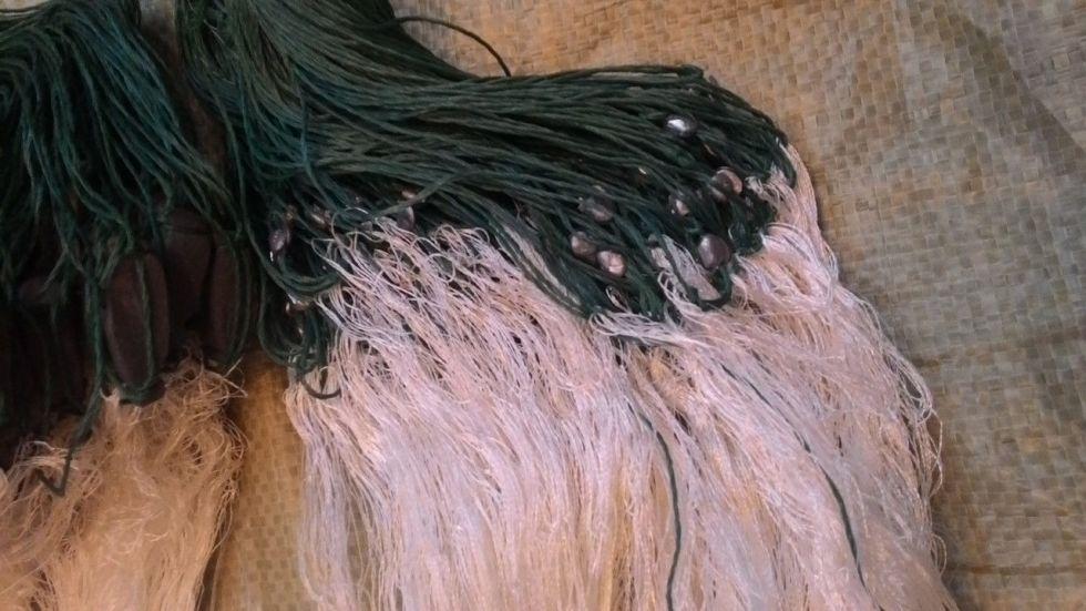 Сеть капроновая из нитки, трехстенная (порежная), длинна 40м, высота 1.6м ячейка 40