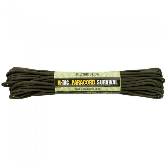 Купить M-Tac паракорд Survival OD Green 15 метров