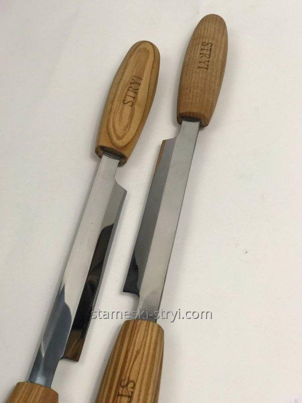 Набор инструмента из 12 штук в кожаном чехле для геометрической резьбы, арт.A12011