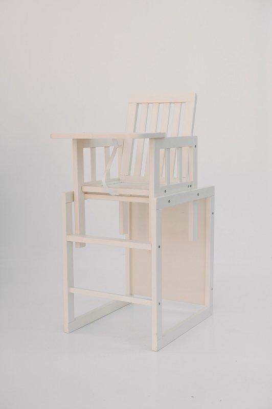 """Детский стульчик для кормления """"Малыш"""" ваниль M18-02 DESON"""
