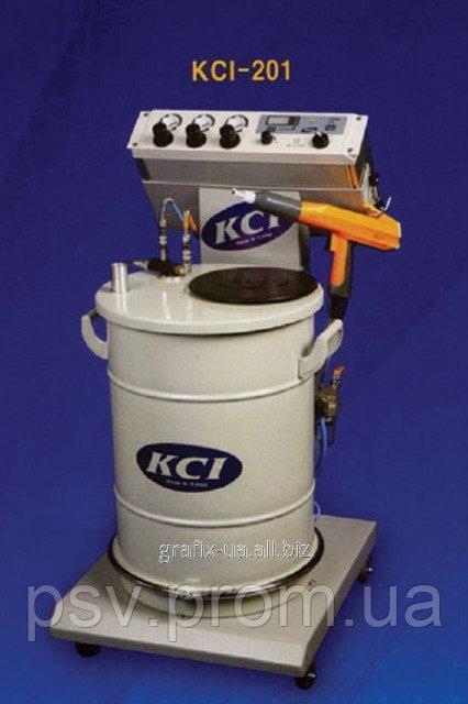 KCI -201 Ручная электростатическая установка с забором из бункера
