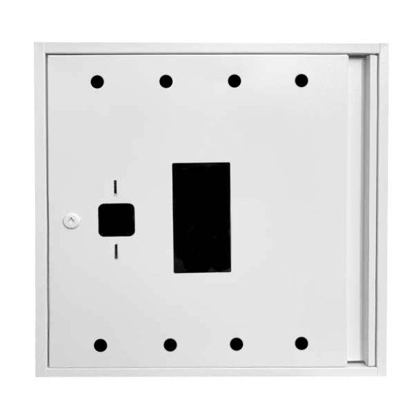 Купить Шкаф пожарный ШП 8060 У навесной, без задней стенки, с кассетой, Белый, 800х600х230