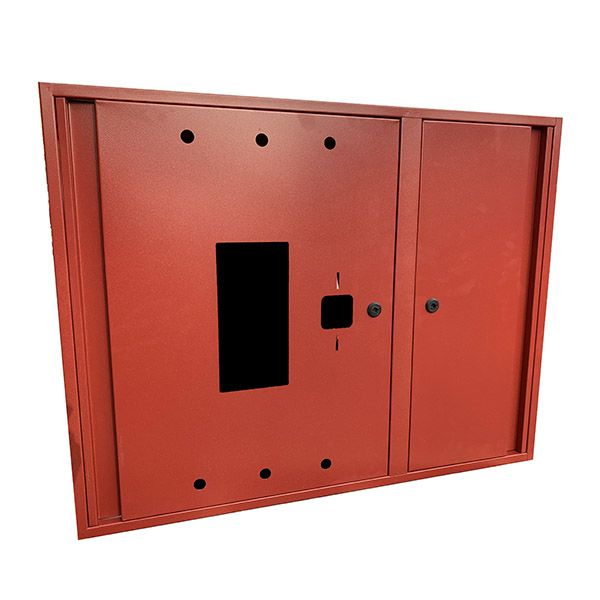 Купить Шкаф пожарный ШП 9070 У навесной, без задней стенки, с кассетой, Красный, 900х700х230