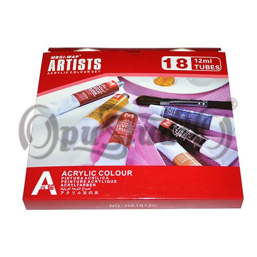 Купить Набор акриловых красок Artists 18 цветов
