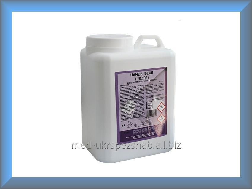 Купить Мыло-крем жидкое Hands_ Blue с микросферами H.B.2022 5л Ecochem