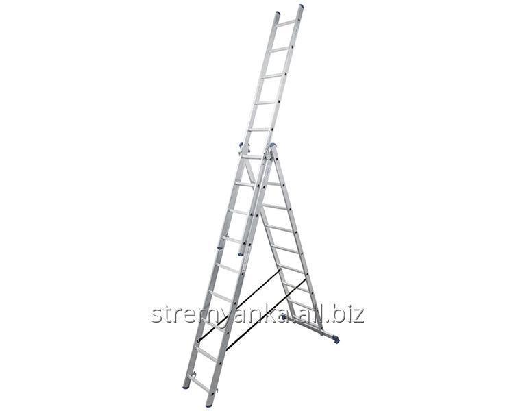 Купить Алюминиевая трехсекционная лестница 3х9 ступеней TRIOMAX VIRASTAR