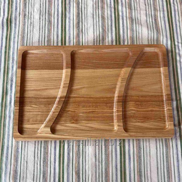Купить Менажница деревянная прямокутна 25*35*2 см, ЯСЕНЬ