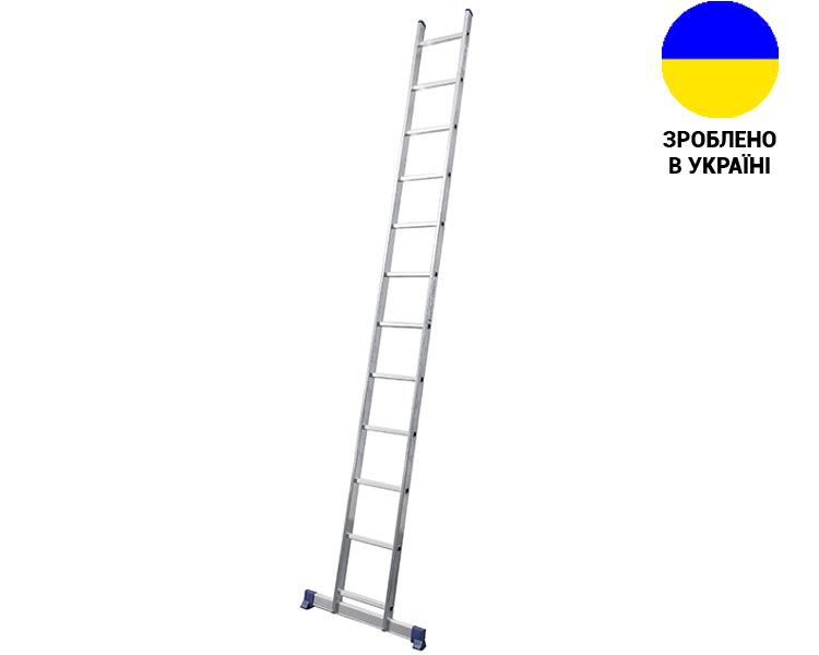Купити Алюмінієва односекційна драбина 12 сходинок UNOMAX VIRASTAR