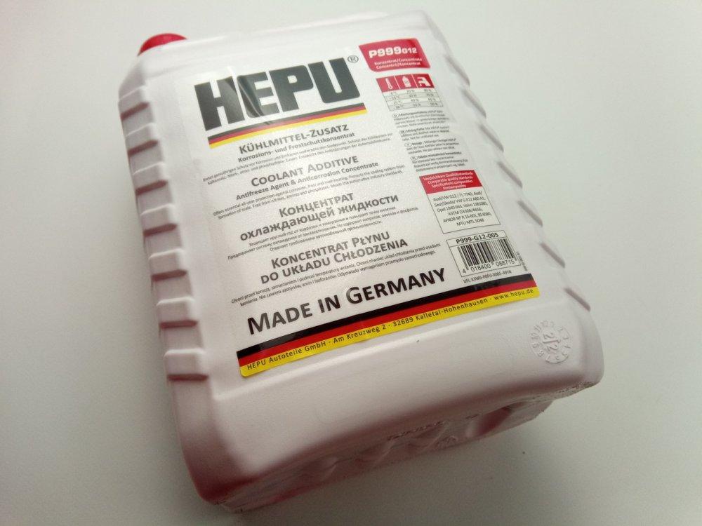 Купить Антифриз HEPU концентрат (красный) 5 л. (P999-G12-005)
