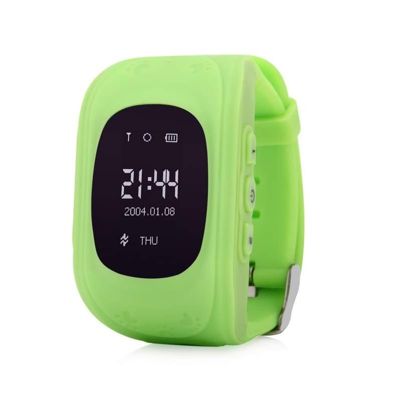 Оригинальные детские смарт часы с GPS WONLEX Q50 цвет зеленый