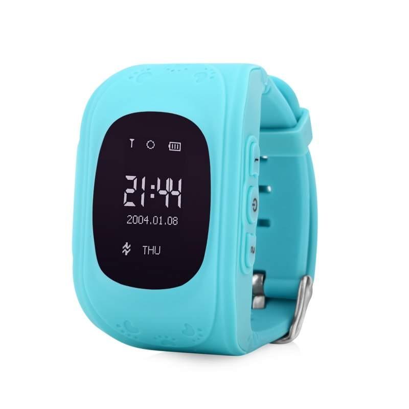 Купить Оригинальные детские смарт часы с GPS WONLEX Q50 цвет голубой