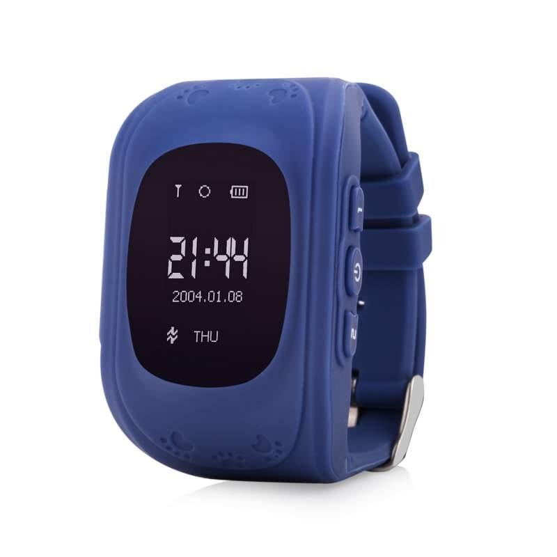 Купить Оригинальные детские смарт часы с GPS WONLEX Q50 цвет темно синий