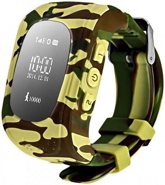 Оригинальные детские смарт часы с GPS WONLEX Camo Q50 цвет камуфляж