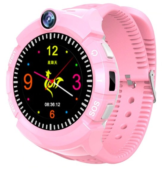 Купить Оригинальные детские смарт часы с GPS WONLEX GW600 цвет розовый