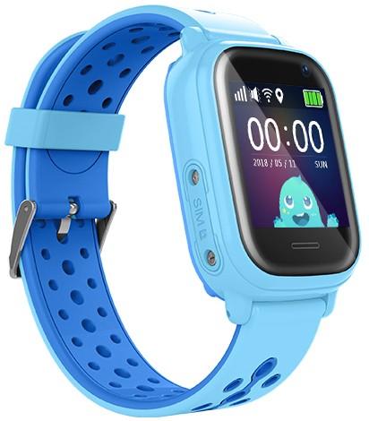 Оригинальные детские смарт часы с GPS WONLEX KT04 цвет голубой
