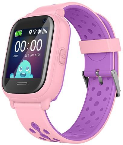 Оригинальные детские смарт часы с GPS WONLEX KT04 цвет розовый