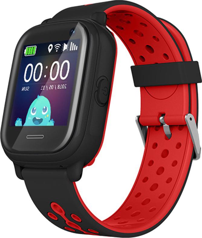 Оригинальные детские смарт часы с GPS WONLEX KT04 цвет черный