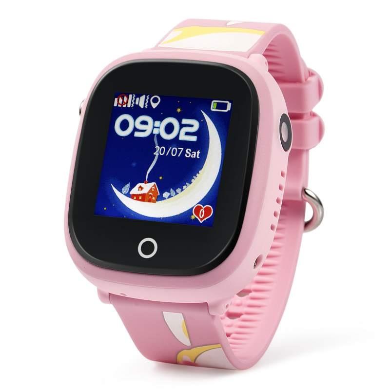 Оригинальные детские смарт часы с GPS WONLEX GW400x цвет розовый