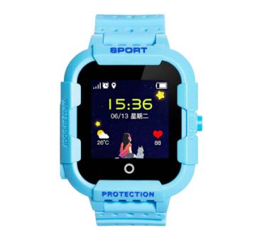Оригинальные детские смарт часы с GPS WONLEX KT03 цвет голубой