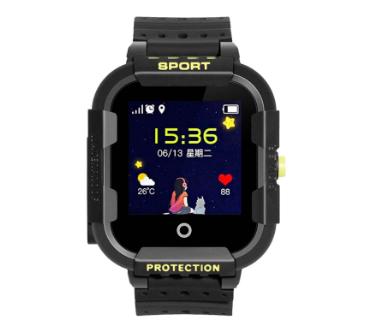 Оригинальные детские смарт часы с GPS WONLEX KT03 цвет черный