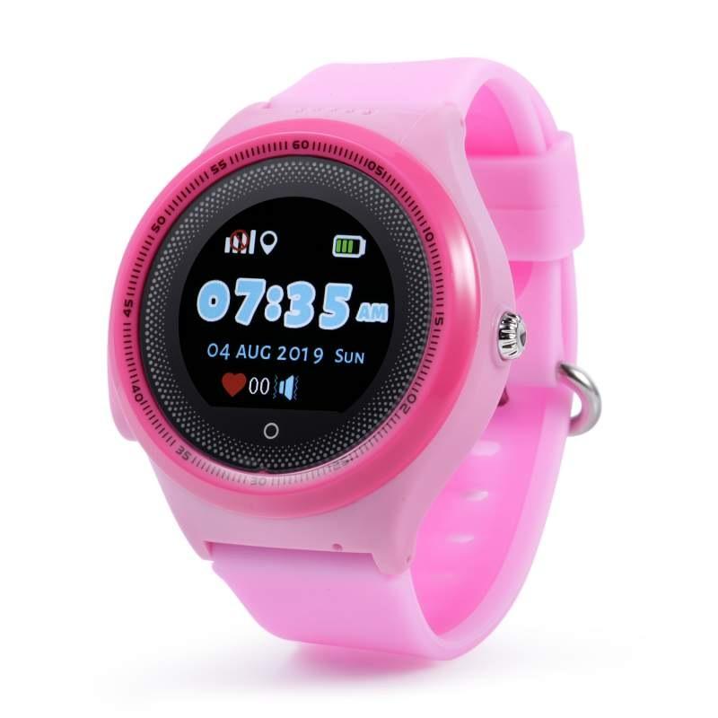 Оригинальные детские смарт часы с GPS WONLEX KT06 цвет розовый