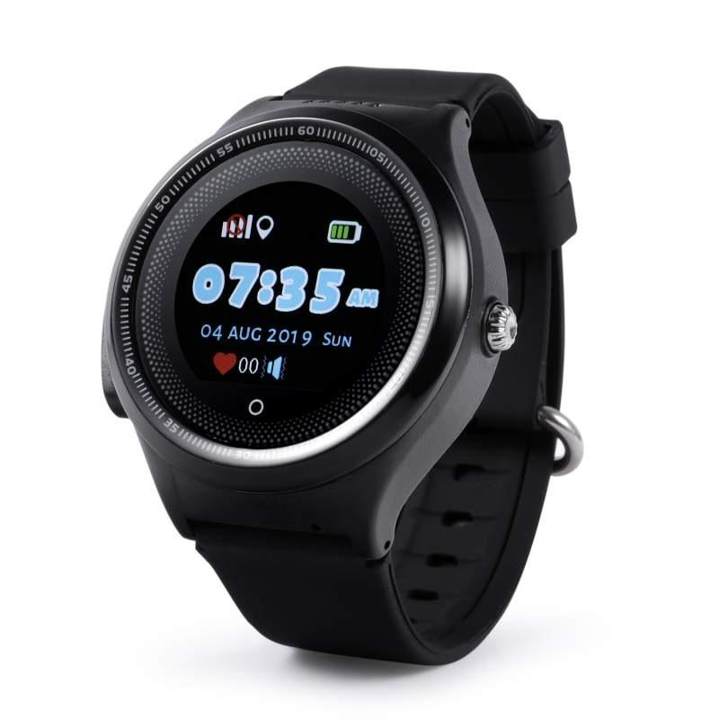 Оригинальные детские смарт часы с GPS WONLEX KT06 цвет черный
