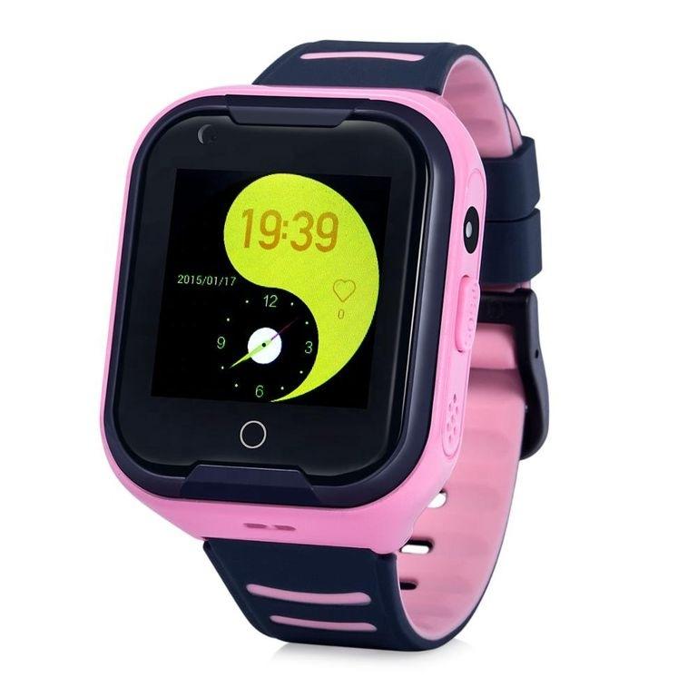 Оригинальные детские смарт часы с GPS WONLEX KT11 цвет розовый
