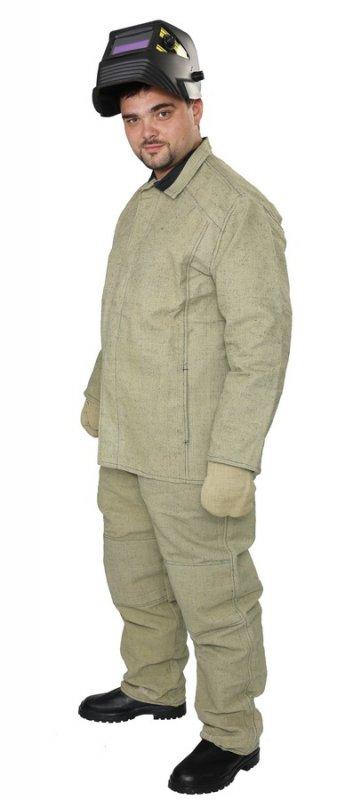 Купить Костюм сварщика огнестойкий ( куртка, брюки), тк. брезент