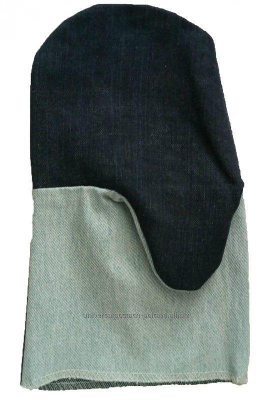 Купить Рукавицы джинсовые с двойным наладонником (Ot)