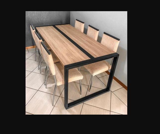 Стол металлический прямоугольный квадратная опора