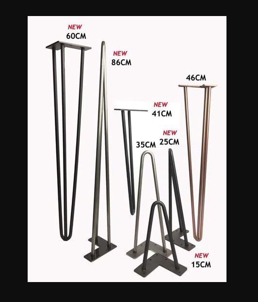 Металлическая ножки для стола -дуги черные 25см
