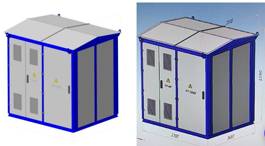 Трансформаторная подстанция КТПУ - 2к- 250/10/04 У1 к.к. без ТМ, РУ-0,4 кВ