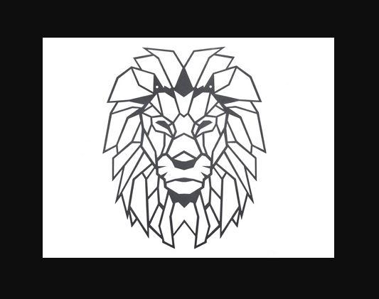 Декор металлический Лев