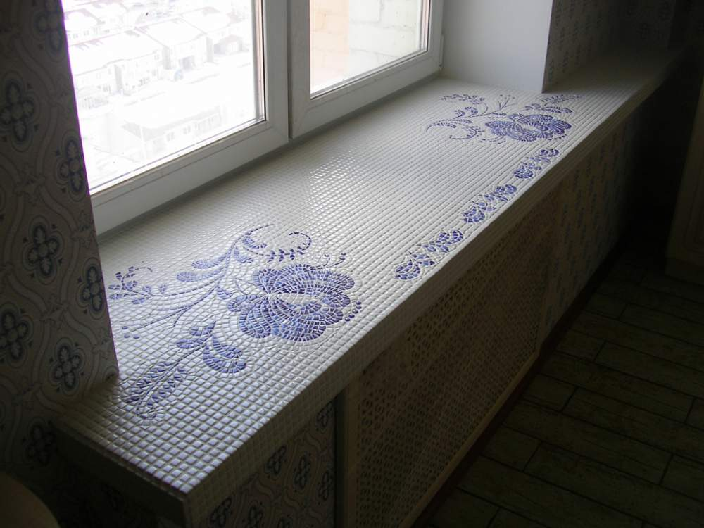 Window sills from marble, window sills mosaic to order acros.