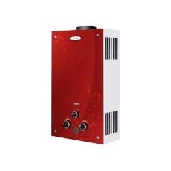 Газова колонка Dion JSD 10 скло з дисплеєм димохідна червона