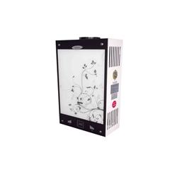 Газовая колонка Dion JSD 10 стекло с дисплеем дымоходная черный цветок