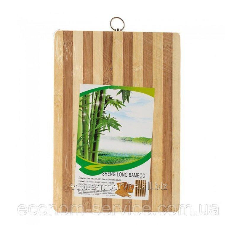 Купить Доска раздел+кольцо 24х33 см. бамбук