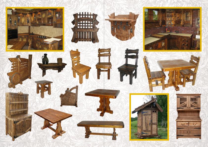 Мебель под старину из дерева своими руками  94