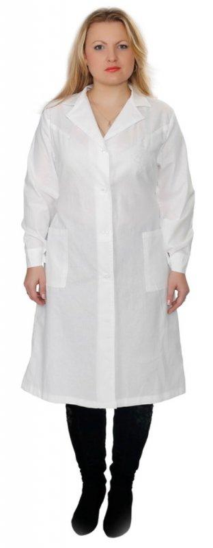 Купить Халат женский белый тк.бязь