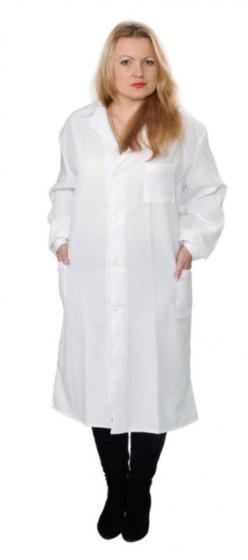 Купити Халат жіночий білий тк.габардин стрейч