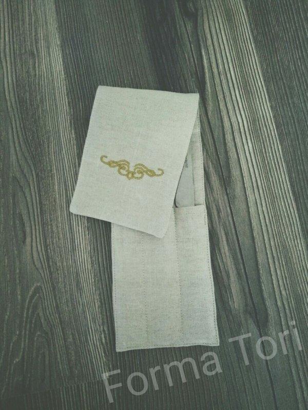 Чехол для столовых приборов с вышивкой Код: 9003