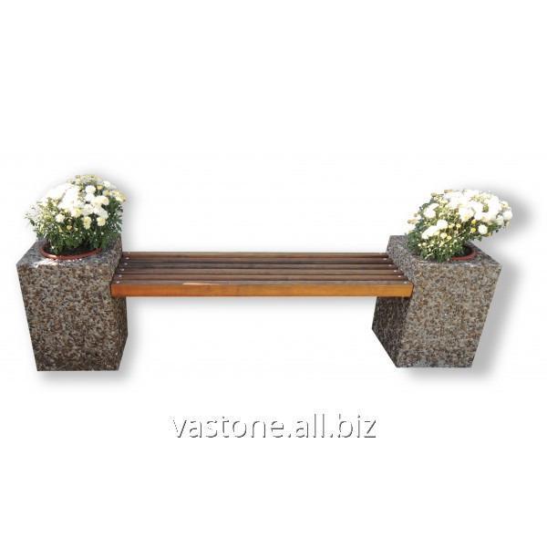 Купить Лавочка садовая «Цветник» Мрамор серый