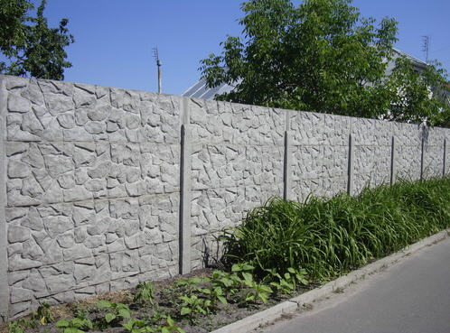 бетонный еврозабор