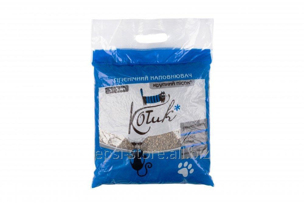 Купить Наполнитель для кошек КОТиК бентонит крупный 3-5 мм 3 кг (синий)